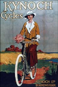 Vintage British cycling poster - Kynoch cycles